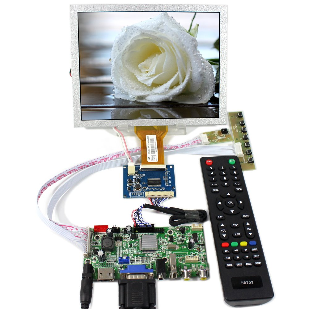 HDMI VGA AV Audio USB FPV LCD Controller Board+8 EJ080NA-05A 800x600 LCD Screen fpv 1 2ghz 100mw 4ch wireless audio
