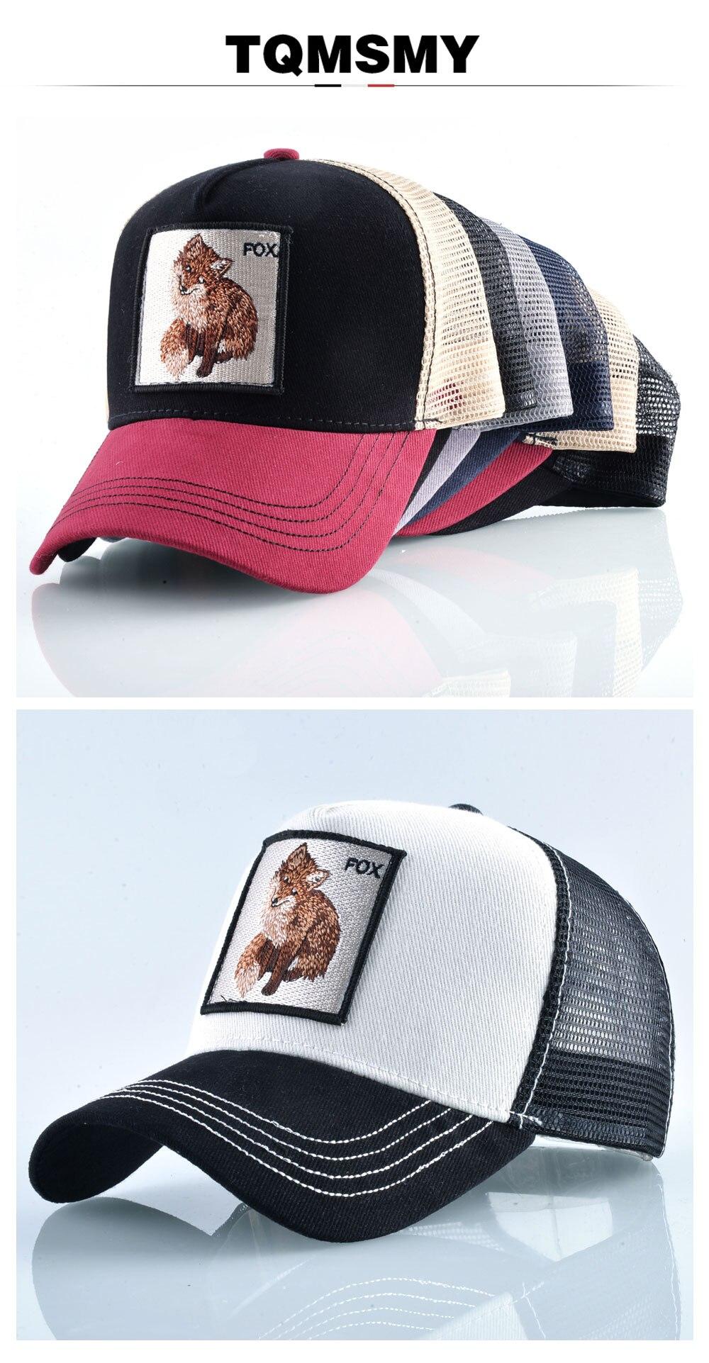 5c7ca743e647c4 Cotton Snapback caps for men Embroidery Fox Baseball Cap Women's Breathable Mesh  Trucker Hat Unisex Patch Hip Hop Bone Casquette