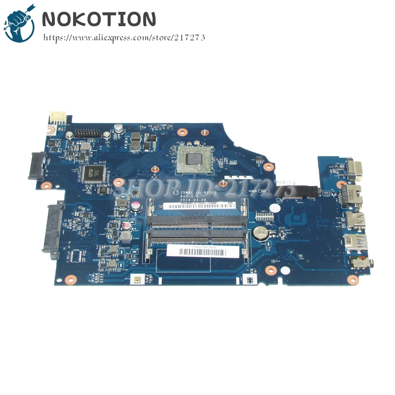 купить NOKOTION NBMLF11005 NB.MLF11.005 For Acer aspire E5-521 Laptop Motherboard Z5WAE LA-B232P DDR3 with Processor onboard по цене 5684.59 рублей