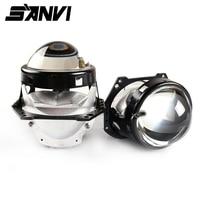 Sanvi 2 шт. 70 Вт 5500 к Автомобильный светодиодный фонарь 3 дюйма би светодиодный проектор Объектив фара для мотоцикла автомобиля усовершенствов