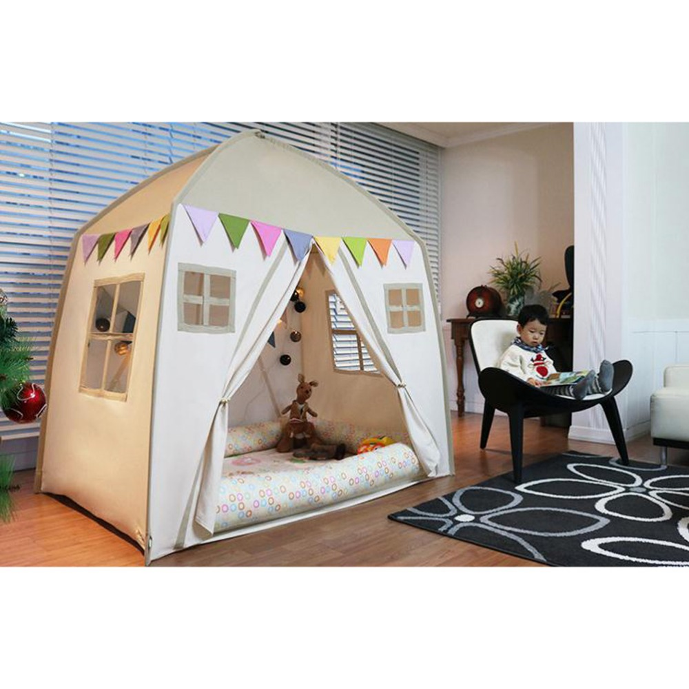 Free Love New Design Apricot Color Childre Game Room Kids Play House Indian Children Tents Children Play Tent Kids Teepee