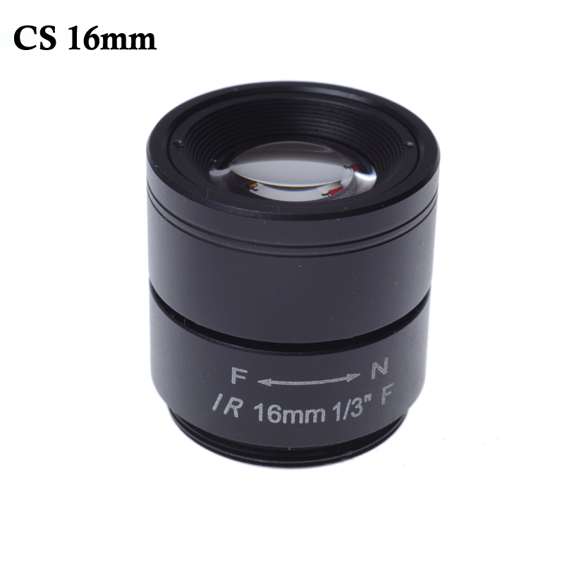 CCTV LENS 1/3 F CCTV Fixed Iris IR Infrared 16mm CS Mount Lens For Security CCTV Camera 8mm 12mm 16mm cctv ir cs metal lens for cctv video cameras support cs mount 1 3 format f1 2 fixed iris manual focus