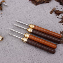 Чайный нож из сандалового дерева из нержавеющей стали Pu Er, Специальная игла для чая, китайский чайный набор кунг-фу, спиральный чайный нож, аксессуары