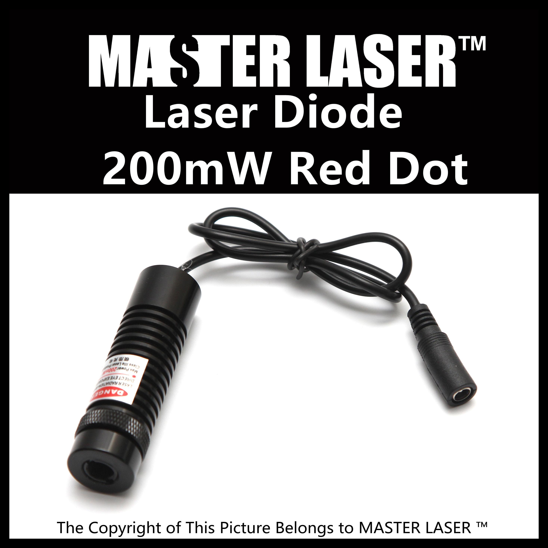 200mw Laser Diode Red Dot Pointer of Laser Cutting Machine Laser Diode Red Dot Laser red 648nm 650nm 50mw 200mw laser diode module locator red focusable dot laser positioning lights marking device