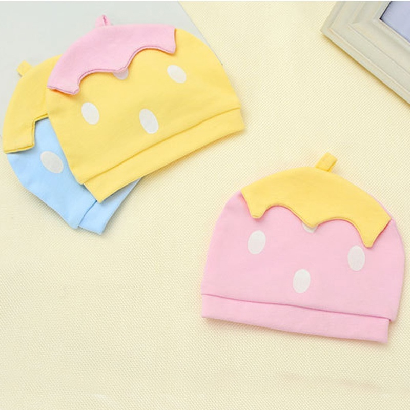 Hat Cute Beanies Color-Caps Knitted Candy Baby Children Cotton Fashion Warm for Newborn