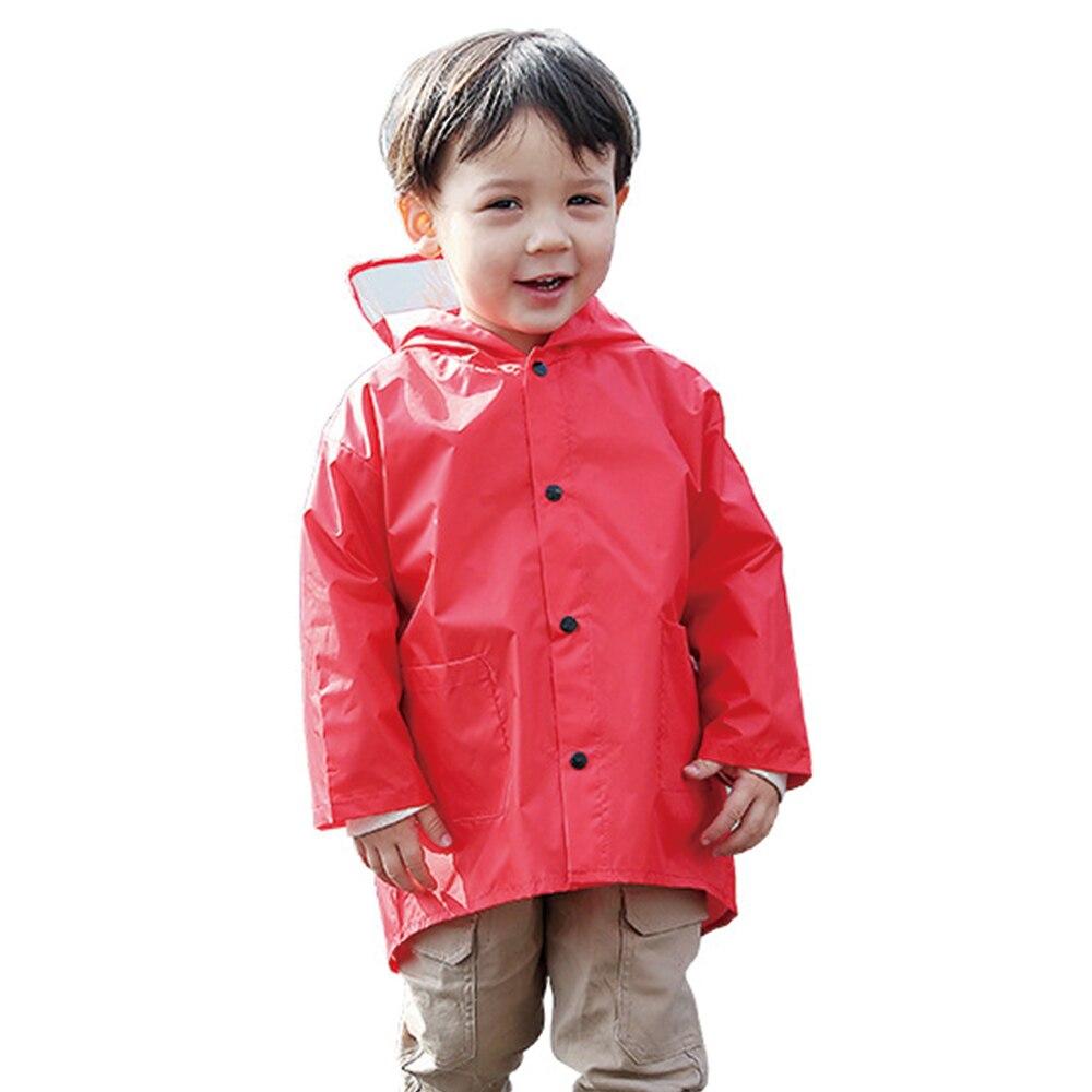 2-6 Years Old Cute Children\\'S Raincoat Dinosaur Cartoon Kids Rain Coat Red & Yellow Babies Rainwear Rain Poncho For Rainy Days