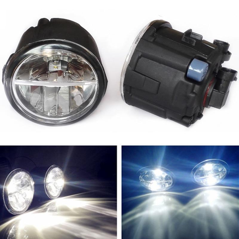 For Infiniti FX30D/50/45/37/35 G25/37 M37/56 EX35/37 2006-2015 Car styling LED Fog Lights 10W DRL fog lamps 1set