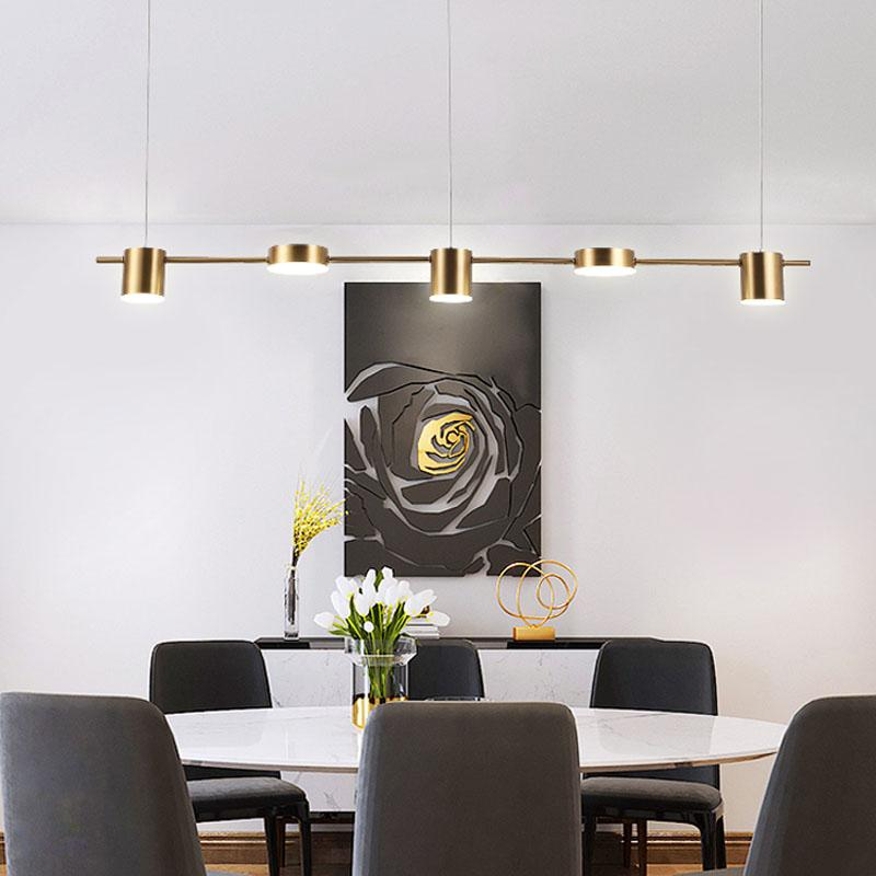 2019 Nordic style extremely simple chandelier post modern restaurant long bar