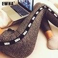 2016 Mulheres Lady Activewear Legging Inverno cinza claro Rosa Pant Outono Cintura Alta Legging Macio 1208 Ordem Original Americano