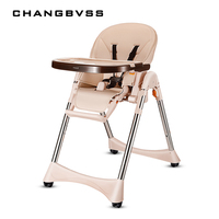 Luxury Multifunction Feeding Chair For Infant Kids Quality Wheels Baby High Chair Portable Four Colors Highchair