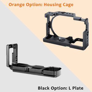 Image 3 - UURig A6400 Vertical L Type Plate Vlog Housing Cage Mount Handle Video Rig Camera Bracket Holder w Mic Cold Shoe for Sony A6400