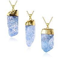 N017 D Natural Stone pendant necklace