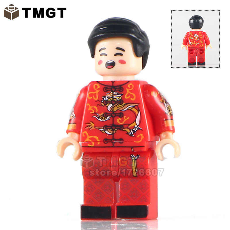 100 ピース/ロット KL9007 花嫁と花婿カスタムメイド唐スーツ中国の結婚式アクションビルディングブロックおもちゃ