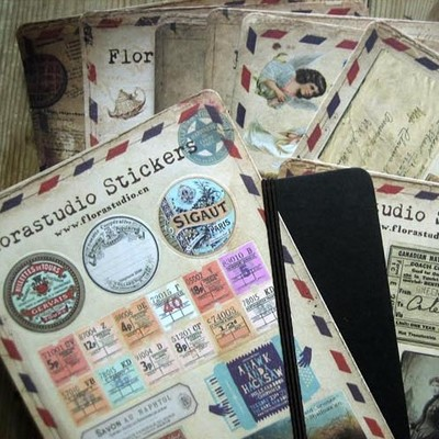 Vintage old time antique paper sticker scrapbooking background paper sticker home decoration paper embellishment craft 20sheets