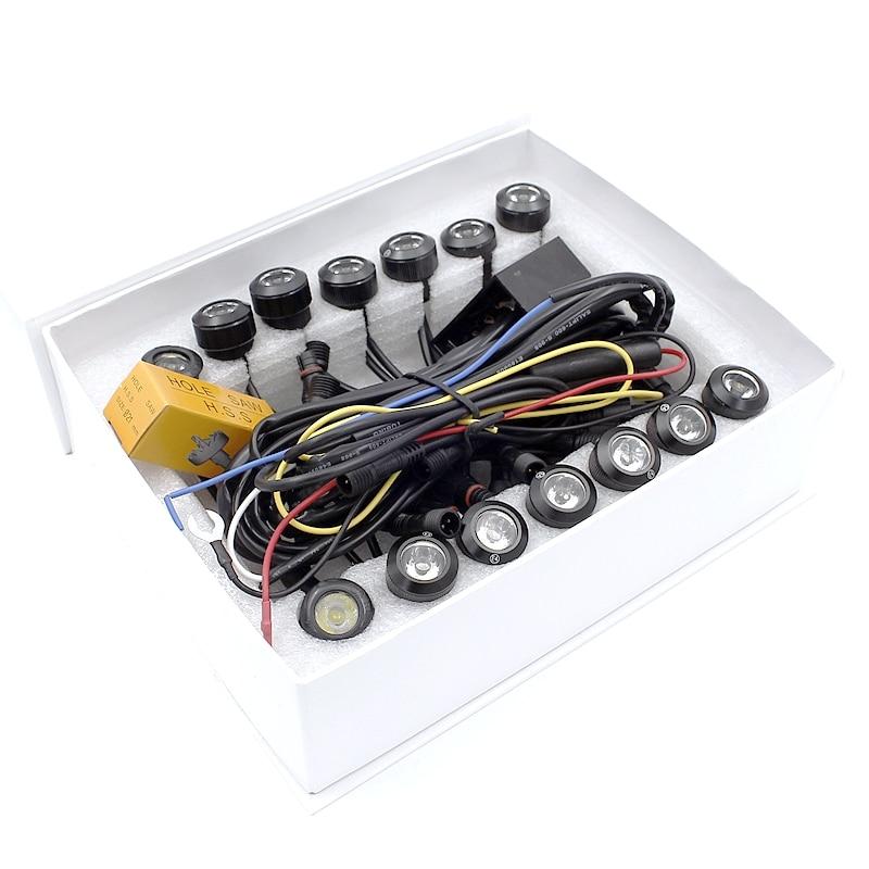 Tak Wai Lee 14 հատ / Սահմանել LED DRL ցերեկային - Ավտոմեքենայի լույսեր - Լուսանկար 6
