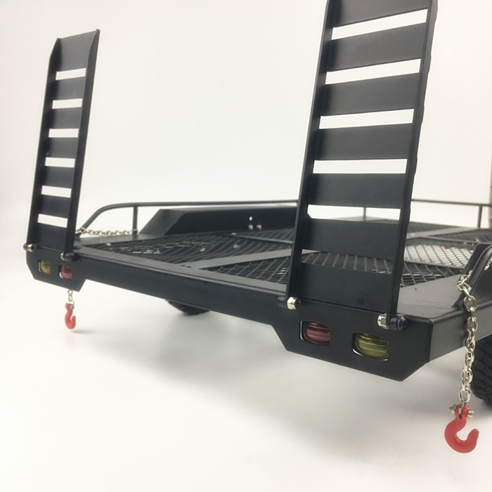 Bouble As Heavy Duty Alle Metalen Trailer voor 1/10 Rc Rock Crawler Truck Traxxas Trx4 Axiale Scx10 90046 90047 Cc01 d90 D110 - 4