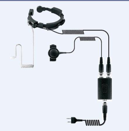 High sensitive Throat control mic headset earphone Dual PTT K plug 2 pins for Kenwood BaoFeng,Puxing,Quansheng etc walkie talkie