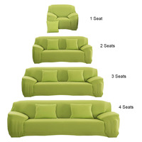 10 Colors Elastic Sofa Cover Fashion Stretchable Pure Sofa Slipcovers Cushion Couch Funiture Protector Covers Cubierta