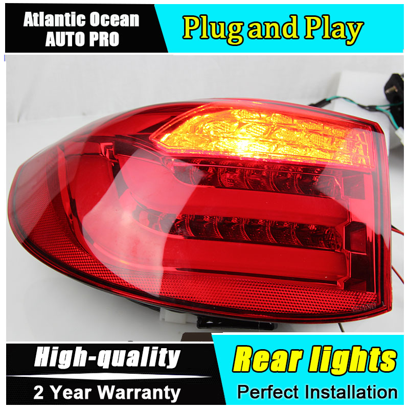 JGRT Car Styling for 2010-2012 Tiguan LED Taillights for VW Tiguan Tail Lamp Rear Lamp LED Fog Light For 1Pair ,4PCS 2 pcs for vw tiguan 5 pcs of light 2010 2012 daytime running lights fog head lamp car styling white daylight waterproof