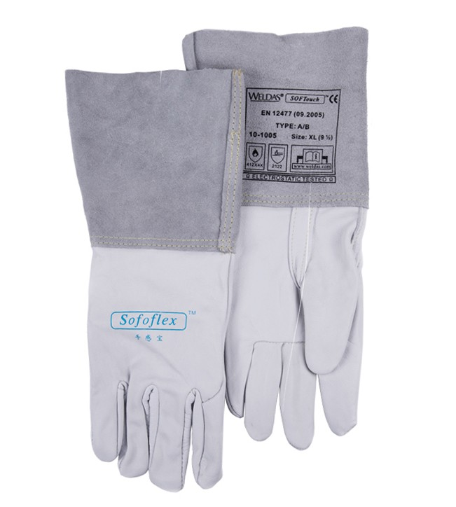 Leather Work Glove MIG TIG Safety Glove Premium Grain Cow Leather Welding Glove все цены