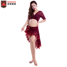 2019 Women Belly Dance Costume Top Blouse +Skirt+ Bottom Pants 3pcs Set Practice and Skirt