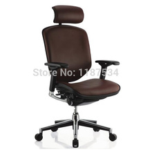 Office Executive lift leather swivel comfortable chair ergonomic office working chair with headrest