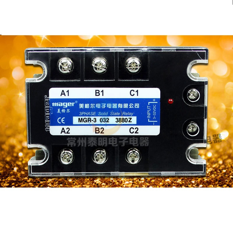 AC three-phase solid state relay MGR-3 A3880Z AC-AC relay 80A 380V genuine three phase solid state relay mgr 3 032 3880z dc ac dc control ac 80a