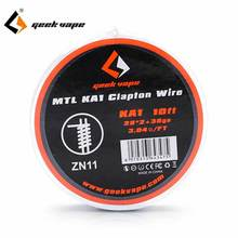 Original Geekvape  MTL N80 / KA1/ MTL SS316L wire DIY clapton wire  Heating Coil Wire Vape Electronic Cigarette tools e xy flat coil wire 120mm heating wire electronic cigarette 10pcs in a tube for vapor vape rda rta premade resistance wire