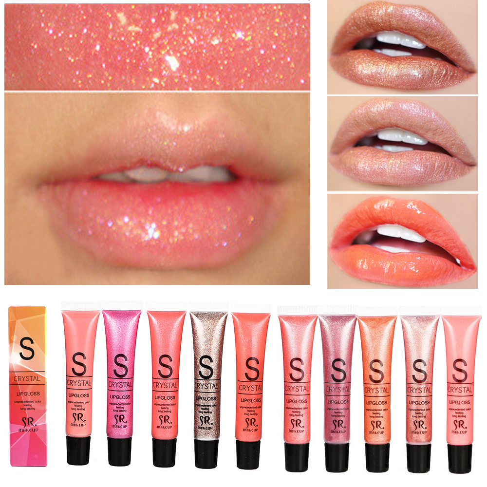 Brand Long Lasting Moisturizer Glitter Lip Gloss Tint Cosmetics Nutritious Shimmer Liquid Lipstick Beauty Lips Makeup(China)