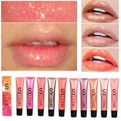 11 долговечные цвета Блеск для губ Макияж конфеты цветной блеск для губ водоустойчивые, блестящие жидкие губные помады batons матовые мерцающи...