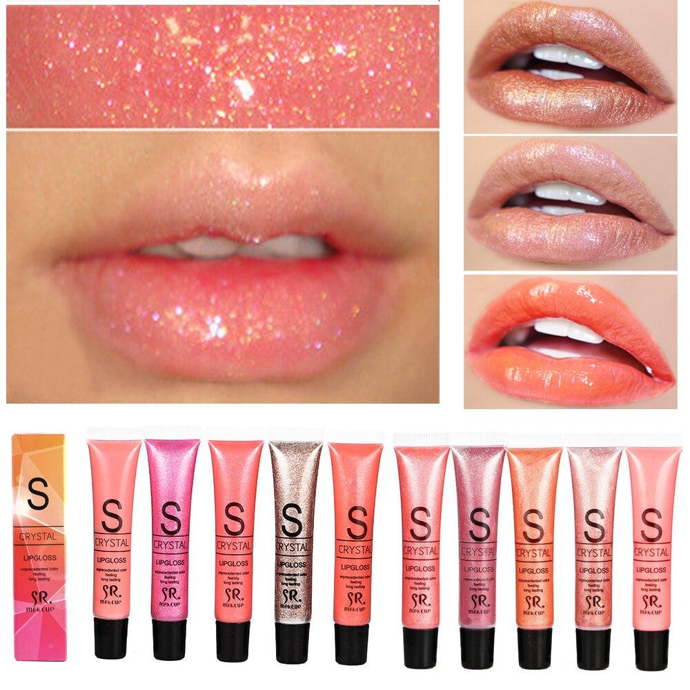 Marca de Longa Duração Hidratante Glitter Shimmer Lip Gloss Matiz Cosméticos Nutritivos Batom Líquido Beleza Maquiagem Lábios