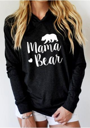 2018 vessos mujeres Camisas blusa sweat Camisas mama Bear impreso manga larga Sudadera con capucha carta impresa verano casual moda