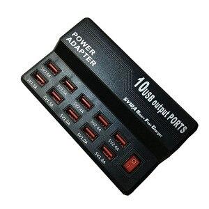 Image 3 - Зарядное устройство с несколькими портами 10 USB, 12 А, мощность 60 Вт, быстрая зарядная станция для iPhone 7, 5, 5S 6, 6S Plus, iPad, LG, Samsung, Huawei, Nexus, адаптер переменного тока