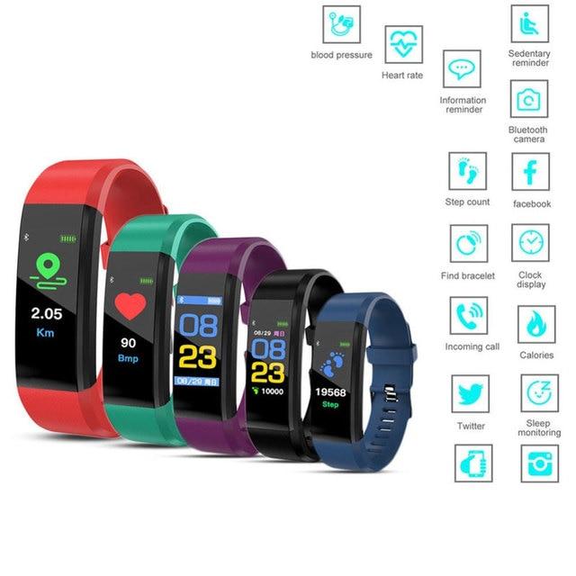 Nova pulseira inteligente smartwatch, pulseira inteligente, monitor de freqüência cardíaca e pressão arterial, monitor de fitness, pedômetro, pulseira para android, xiaomi, huawei, telefone ios