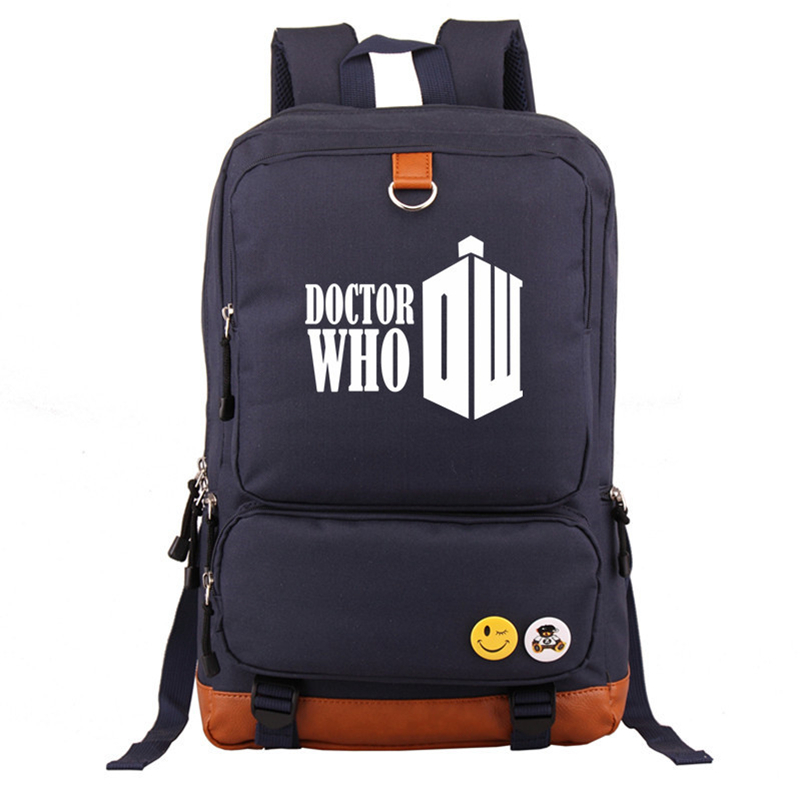 High Quality Hot Tv Series Doctor Who Tardis Printing Backpack Canvas Mochila School Bags Laptop Backpack Unisex Travel Bags