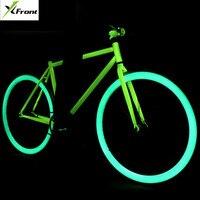 Новый X передний бренд светящийся высокоуглеродистой стали фиксированная Шестерня для ретро велосипеда 700C студентов трюк велосипед инверт