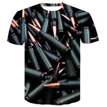 2019 Newest 3D Print Bullets Harajuku StyleT-shirt Men/ Women Cartoon Summer T-shirt Shirt brand clothing china printed top