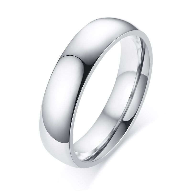 Wedding Bands Classic Bands Domed Bands Titanium 5mm Polished Band Size 10.5