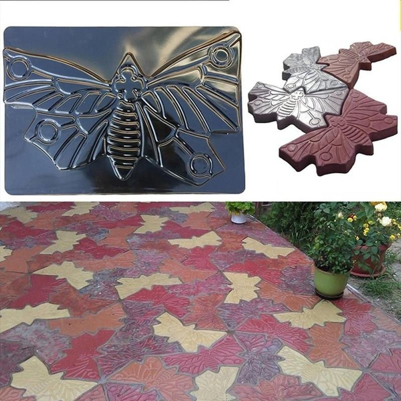 Reusable Butterfly Floor Mould Garden Pavement Mold Concrete Stepping Garden Yard Decor DIY