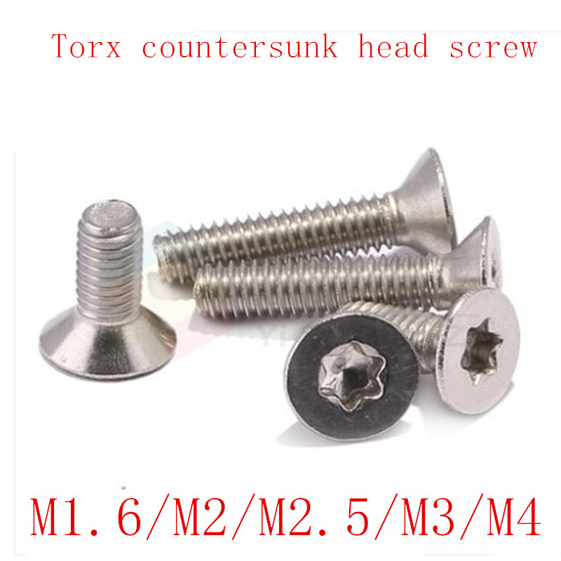200pcs M3 stainless steel 304 cross countersunk flat head machine screw set DE