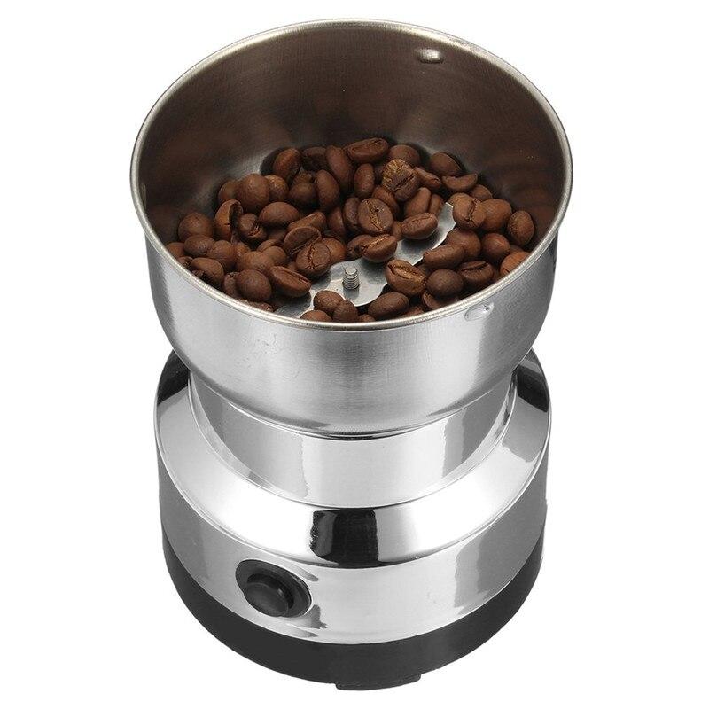 Aço inoxidável moedor de feijão café elétrico casa moagem fresadora 220 v plug ue acessórios café utensílios cozinha