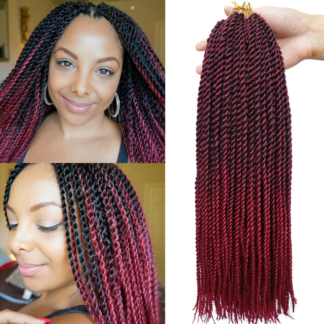 Ombre Senegalese Twist Hair Kanekalon Havana Mambo Crochet Braids Extensions Freetress Braid