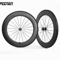 700c 88 ملليمتر roda رويدس أنبوبي العجلات-الفاصلة عجلات الكربون الطريق دراجة حافة 23 ملليمتر ems/tnt سريعة تسليم دول شرق آسيا