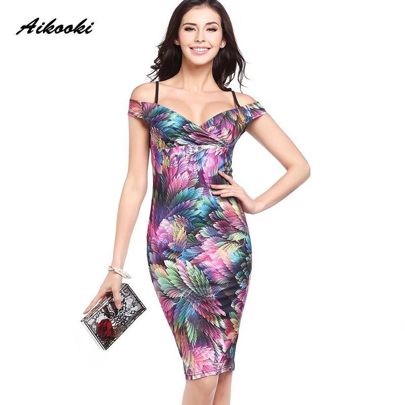 c671a1b42f40d US $3.59 47% OFF|Aliexpress.com : Buy Aikooki 2018 Summer Women Dress Sexy  Bodycon Elegant Floral Print Slim Party Work Bandage Dress Casual Pencil ...