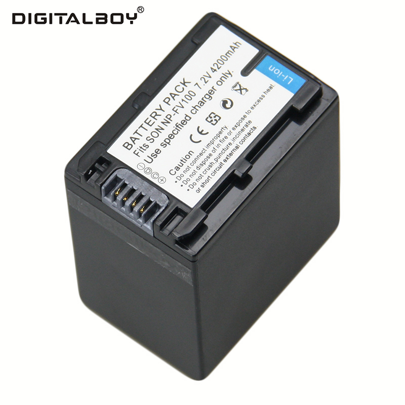 1pcs Battery NP-FV100 NP FV100 NPFV100 Rechargeable Camera Battery For SONY FDR-AX100E AX100E HDR XR550E XR350E CX550E CX350E видеокамера sony fdr ax100e 4k