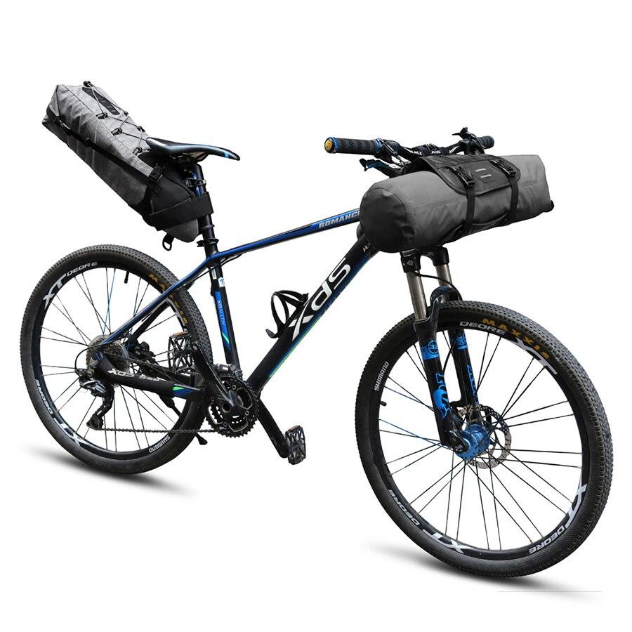 NEWBOLER Impermeabile Sacchetto Della Sella Della Bicicletta Grande Della Coda Della Bici Sedile Borse TPU e Sacchetto Della Bici Del Manubrio