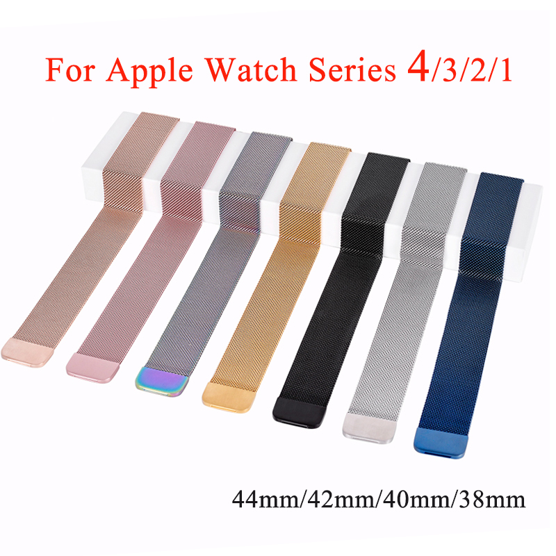 For Apple Watch Band 38mm 42mm,Milanese Loop Stainless Steel Watchband Replacement Strap for iWatch bands series 3 2 1 milanese loop strap for apple watch bands 42mm for iwatch band 38mm stainless steel metal bracelet mesh watchband serise 3 2 1