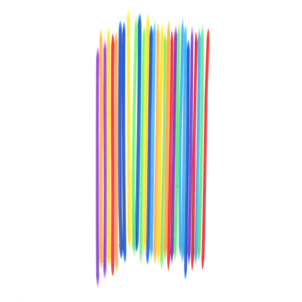 30PCS Colorful Kids Gifts Baby Children Educationaln Toy Colorful Plastic Traditional Mikado Spiel Pick Up Sticks With Box Game