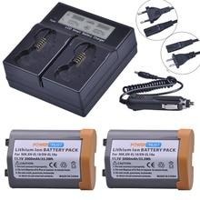 2 шт 3000mAh EN-EL18 EN-EL18A батарея+ умная, быстрая lcd Двойная зарядка для Nikon EN EL18 ENEL18 D4, D4S, D5, MB-D12, D800, D800E