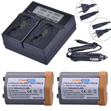 2 batteries 3000mAh avec double chargeur LCD rapide intelligent, pour Nikon EN EL18 ENEL18 D4, D4S, D5, D800, D800E